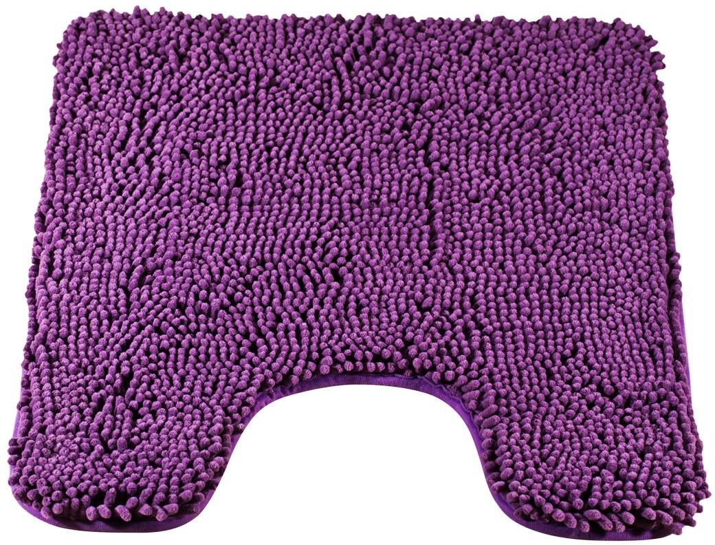 Коврик для туалета Brissen Cingolo, цвет: фиолетовый, 60 x 50 смBSMT-8050-VLTКоврик для туалета Cingolo – необходимый элемент декора санузла. Модель выполнена из микрофибры с длинным, мягким ворсом. Коврик приятен на ощупь и не вызывает аллергических реакций. Полиэстер хорошо впитывает влагу и быстро высыхает. Этот материал не подвержен образованию плесени и вредоносных микроорганизмов, в нем не заводится моль. Коврик не скользит на полу, прост в уходе и долговечен.