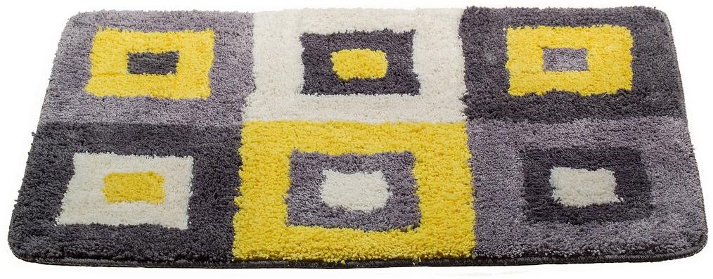 Коврик для ванной Swensa Graffica, цвет: желтый, 90 x 60 см коврик для ванной swensa costa 60х90