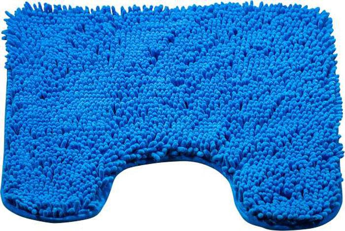 Коврик для туалета Brissen Cingolo, цвет: синий, 60 x 50 см