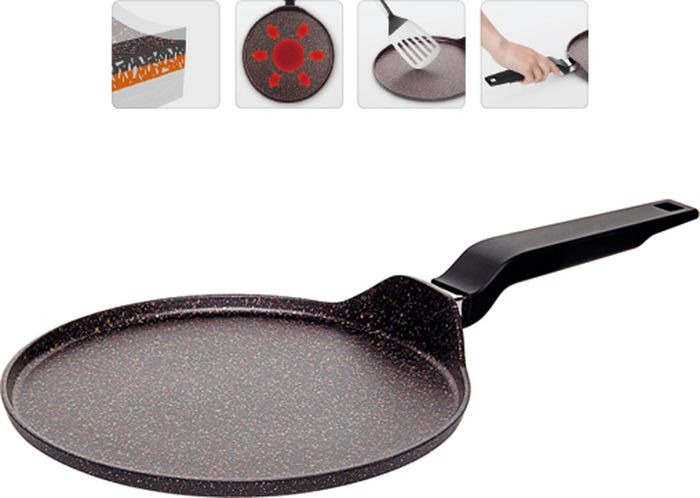Сковорода для блинов Nadoba Kosta, с антипригарным покрытием, диаметр 25 см