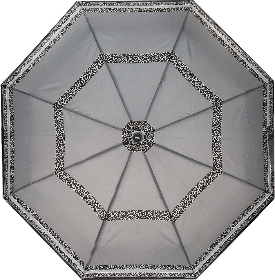 Зонт женский Doppler, 3 сложения, полный автомат, цвет: серый. 744146526 1 цена и фото