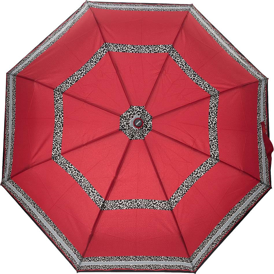 Зонт женский Doppler, 3 сложения, полный автомат, цвет: красный. 744146526 6 зонт трость женский doppler цвет красный 714765l