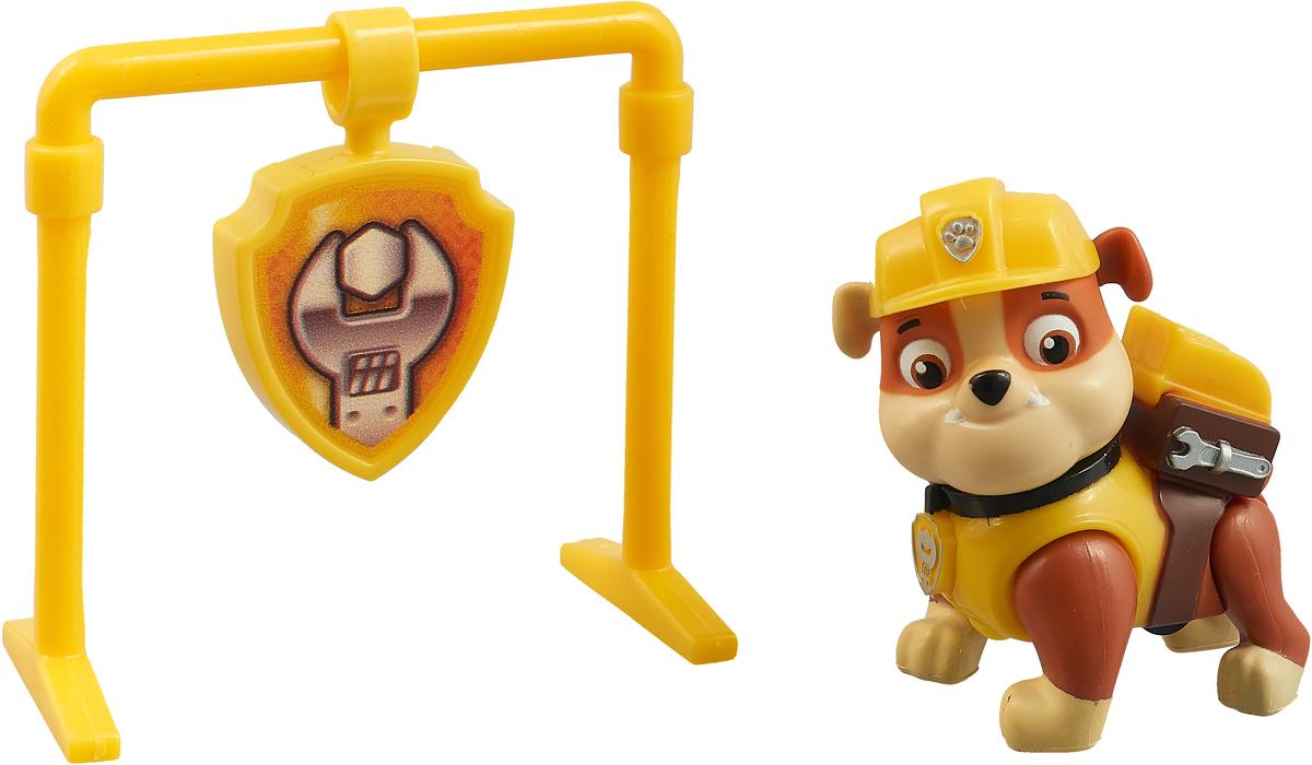 Paw Patrol Фигурка RUBBLE с рюкзаком-трансформером с игрой 16600_20082986 paw patrol фигурка pup fu rubble