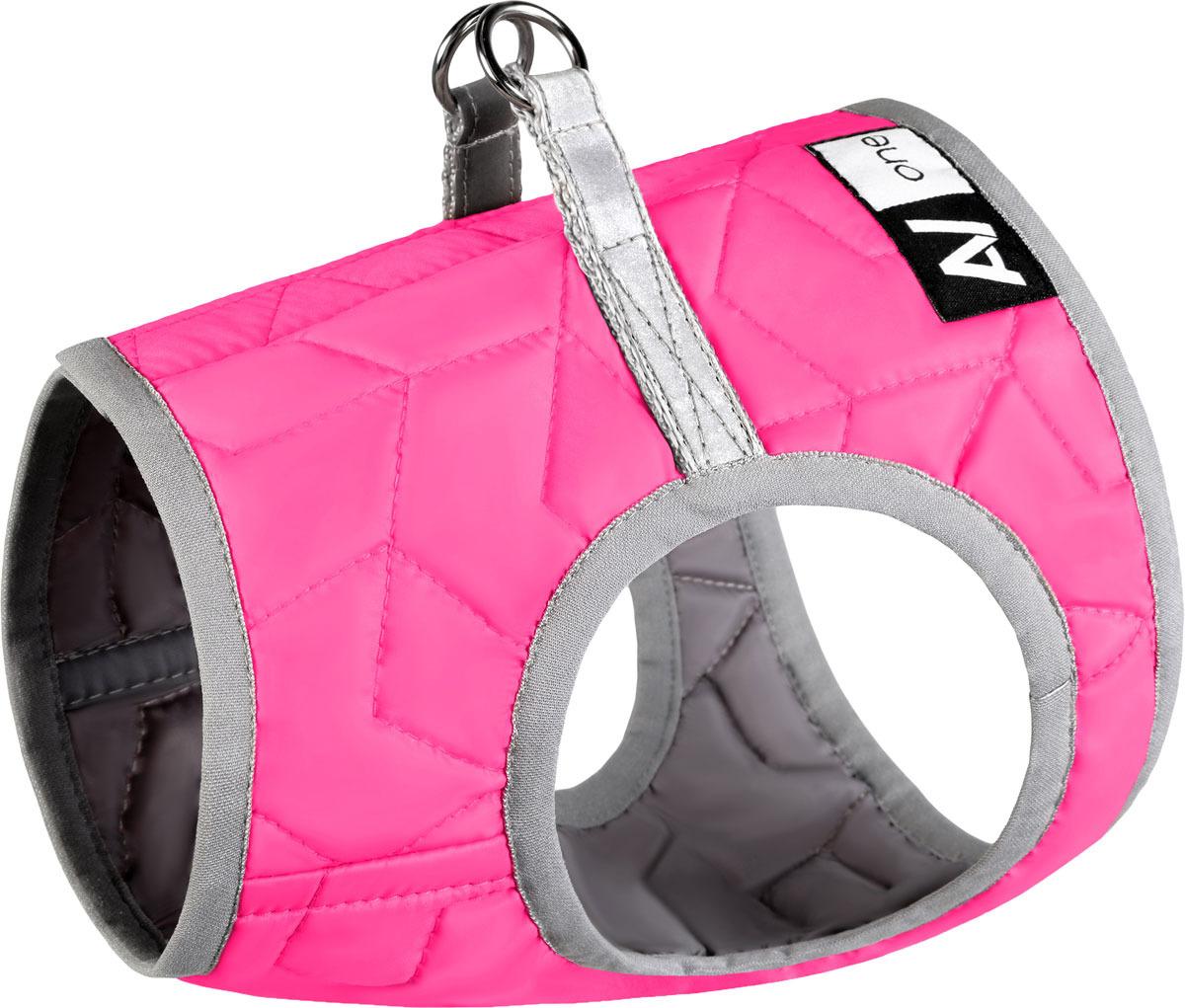 Шлейка для собак AiryVest One, цвет: розовый. Размер S2