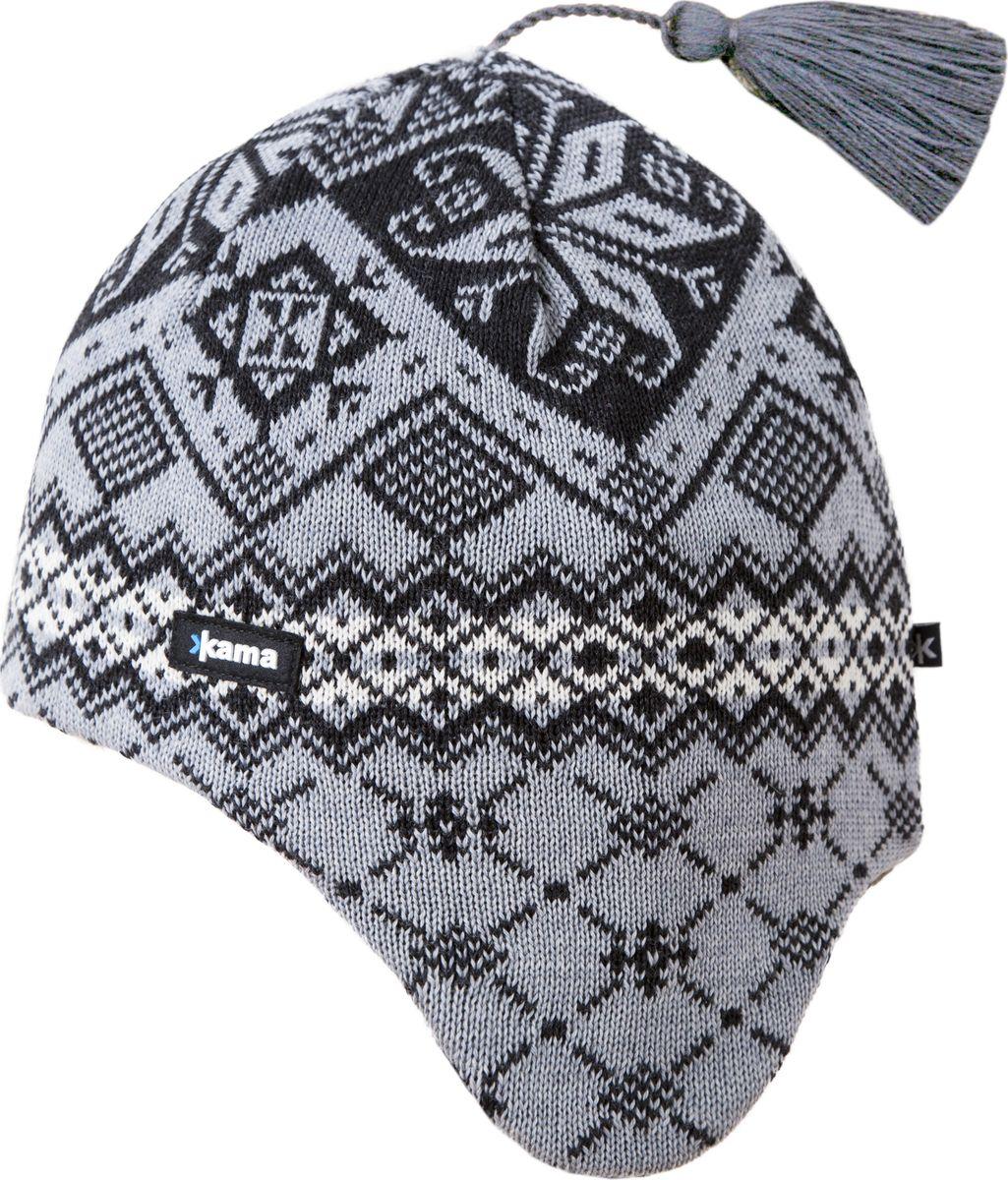 Шапка kama шапка kama cross country beanies цвет черный a58 110 размер 56 58