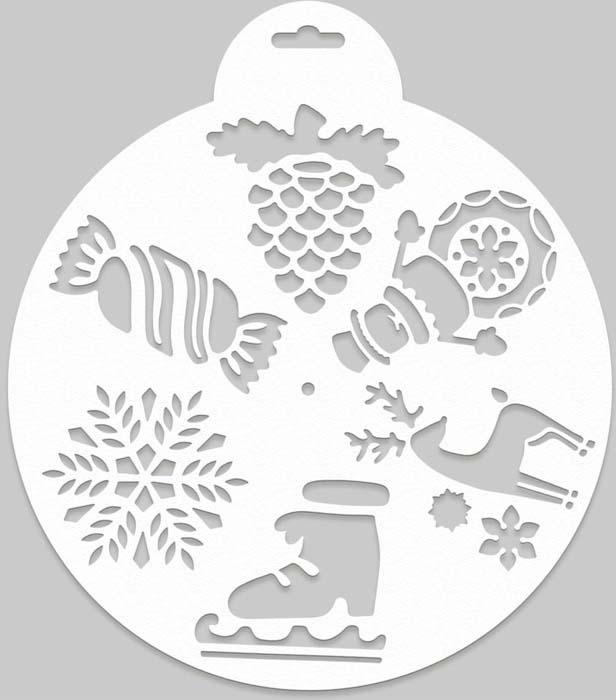 Трафарет Magic Time Конфетка и шишка, новогодний, многоразовый. 78067 детские товары