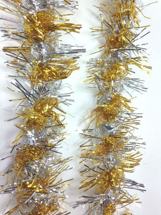 Мишура новогодняя Magic Time, цвет: серебро, светлое золото, 9 х 200 см. 78392 цены онлайн