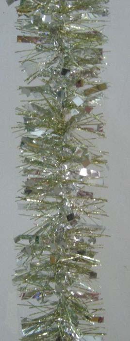 Мишура новогодняя Magic Time, цвет: золото с серебром, 7,5 х 200 см. 78397 цены онлайн