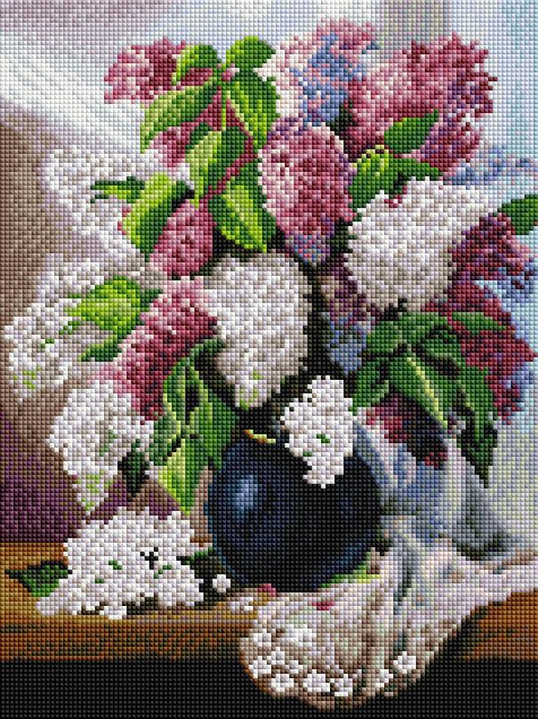 Алмазная мозаика Белоснежка Пушистая сирень. 265-ST-S наборы для поделок белоснежка розы и фиалки 277 st s