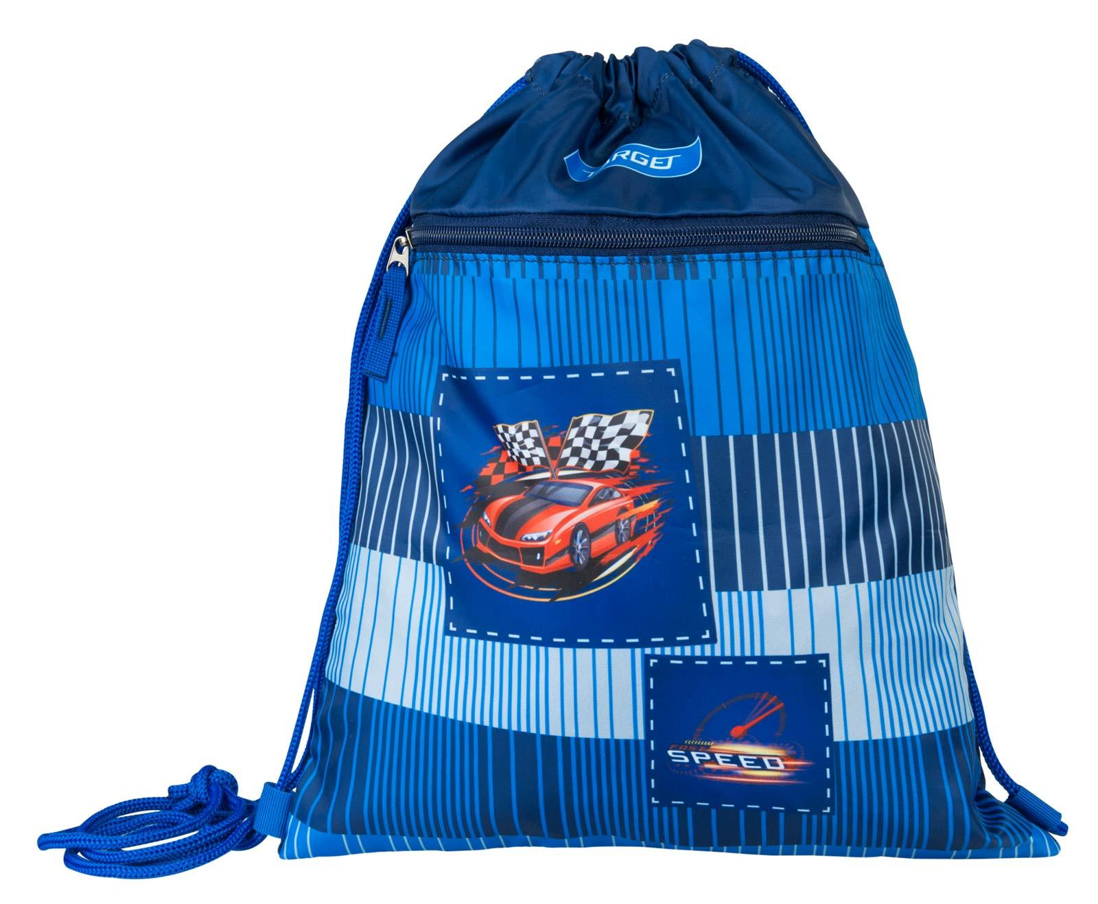 Фото - Сумка Target Гоночная машина, для детской сменной обуви, цвет: синий сумка target для детской сменной обуви sparkling цвет синий