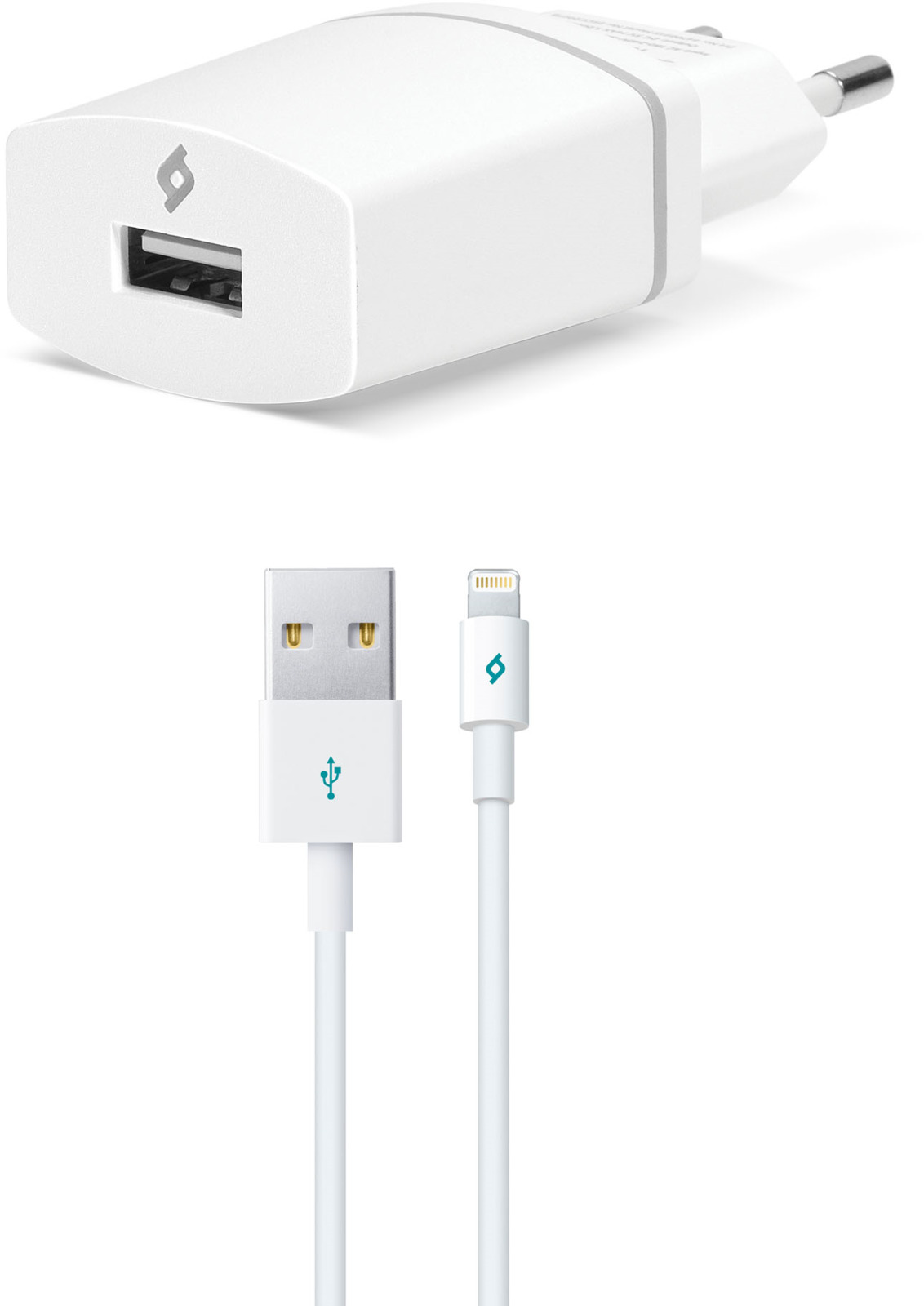 Сетевое зарядное устройство TTEC Compact USB-Lightning, 1A, цвет: белый