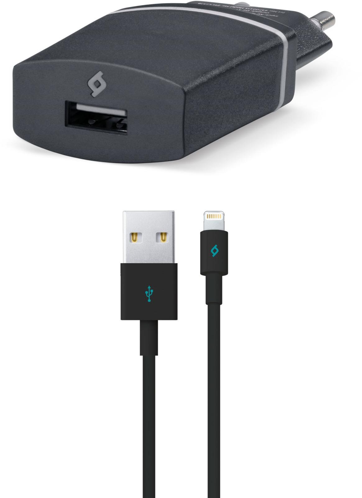 Сетевое зарядное устройство TTEC Compact USB-Lightning, 1A, цвет: черный сетевое зарядное устройство prime line 1a с кабелем micro usb черный