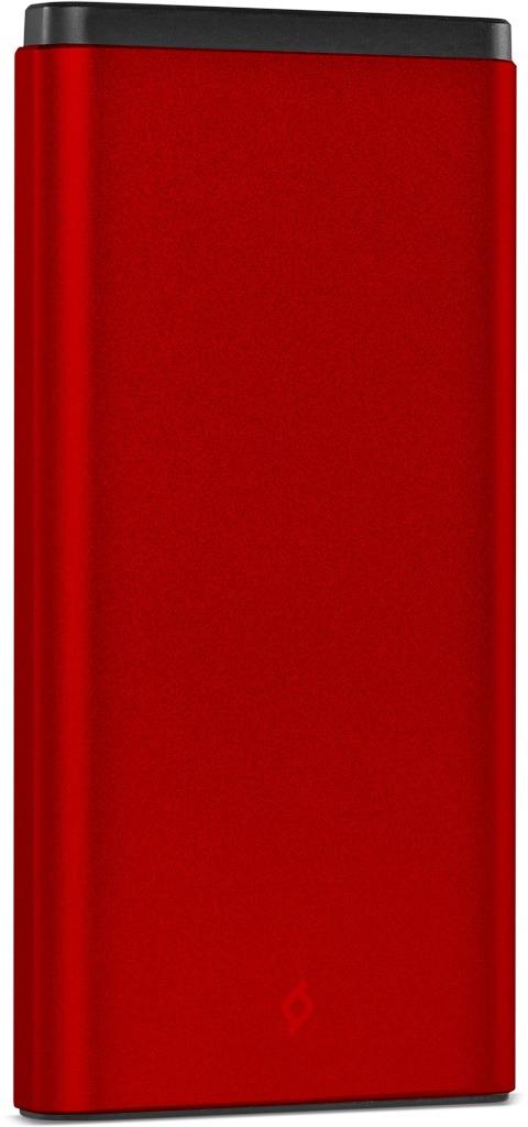 Внешний аккумулятор TTEC AlumiSlim 10 000 мАч, цвет: красный внешний аккумулятор samsung eb pg930bbrgru 5100mah черный