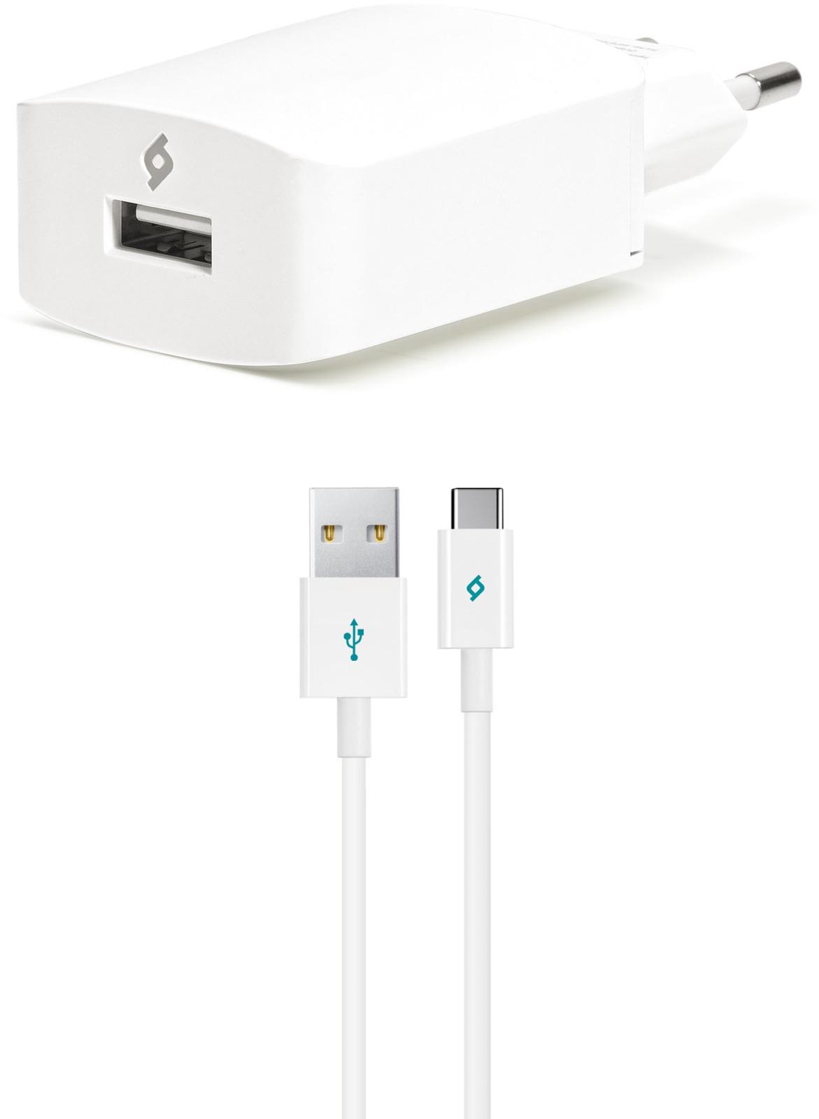 Сетевое зарядное устройство TTEC Speed USB-Type C, 2.1A, цвет: белый