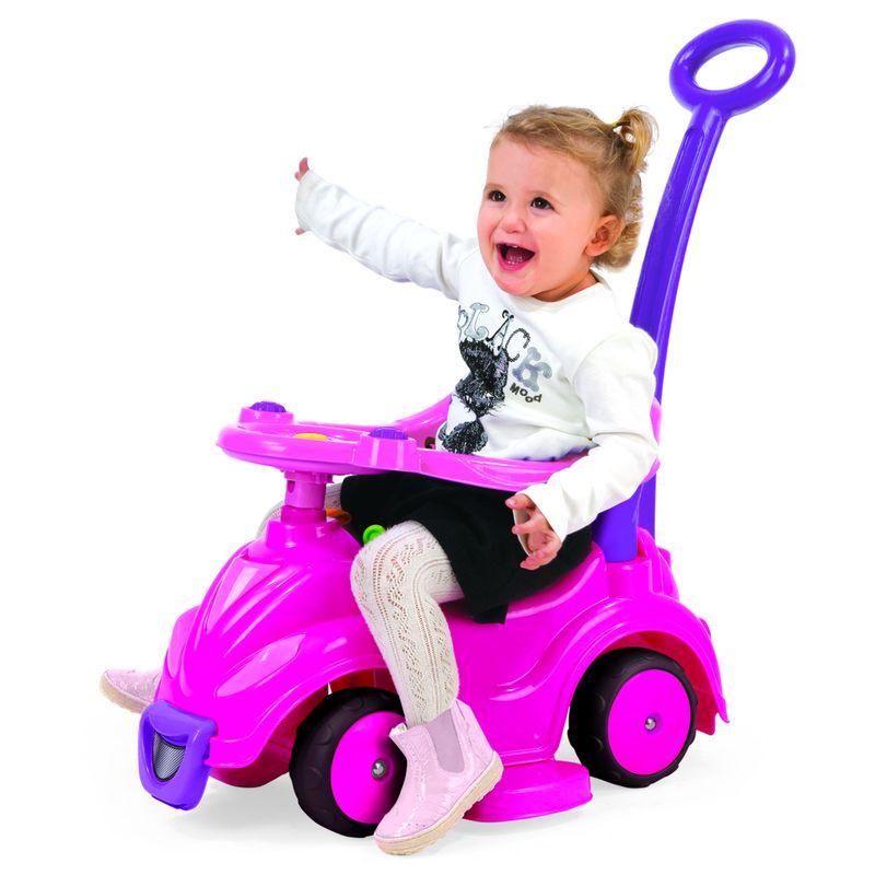 Фото - Автомобиль-каталка Dolu, цвет: розовый/фиолетовый каталки dolu автомобиль 2 в 1