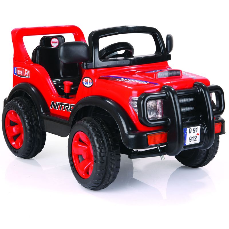 Электромобиль Dolu Найтро, цвет: красно-черный kidscars электромобиль квадроцикл цвет черный