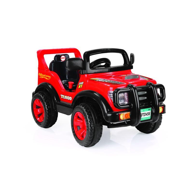 Электромобиль Dolu Тьягу, цвет: красно-черный kidscars электромобиль квадроцикл цвет черный