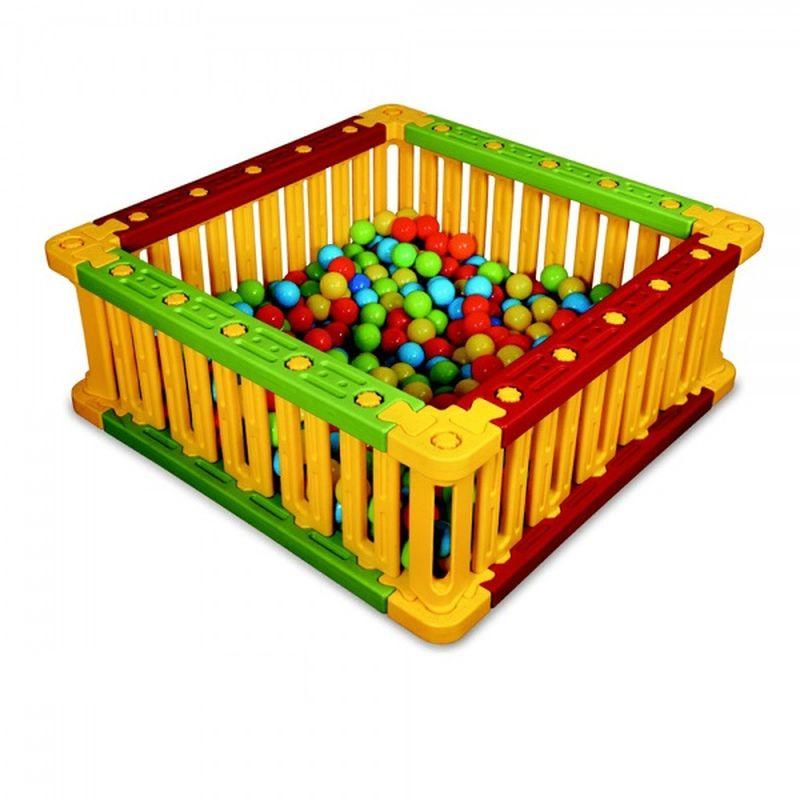 Пластиковый квадратный манеж для шаров KING KIDS, 51 х 136 см
