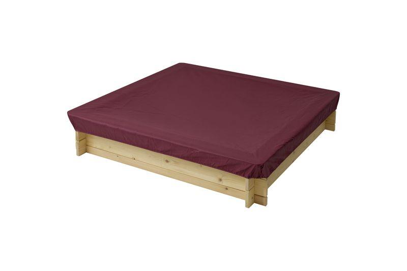 Защитный чехол для песочниц PAREMO, цвет: бордовый, 120 x 120 x 30 см тюбинг rt ural bear до 120 кг тентовая ткань рисунок 6966