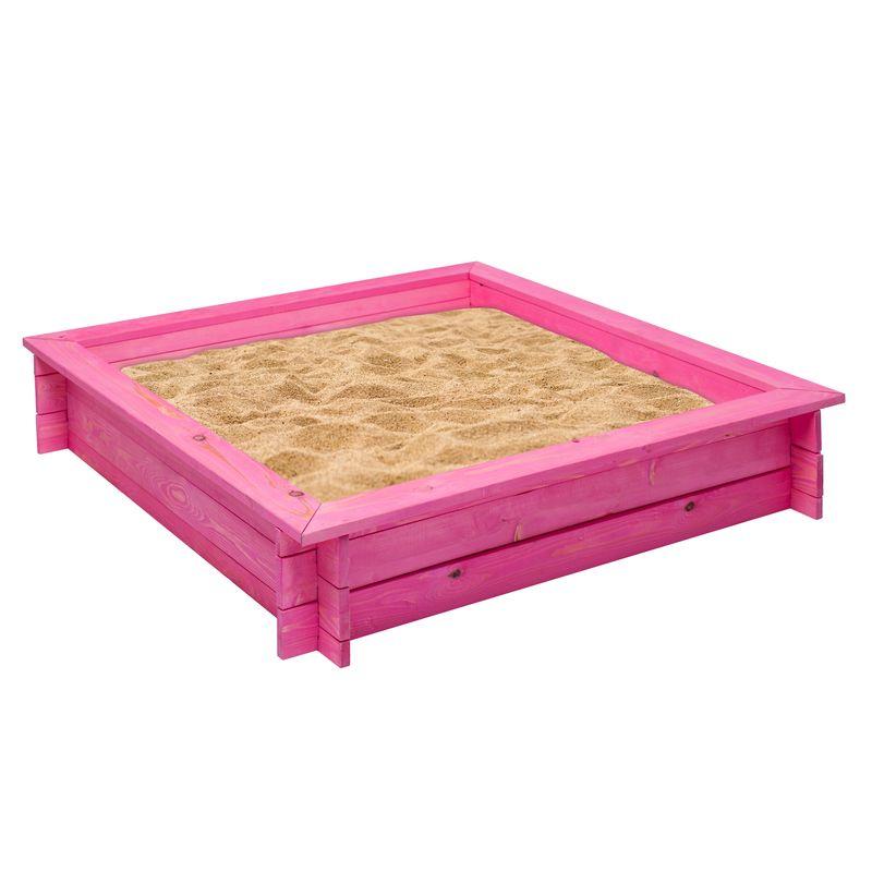 """Деревянная песочница PAREMO """"Афродита"""", цвет: розовый, 110 x 110 x 25 см"""