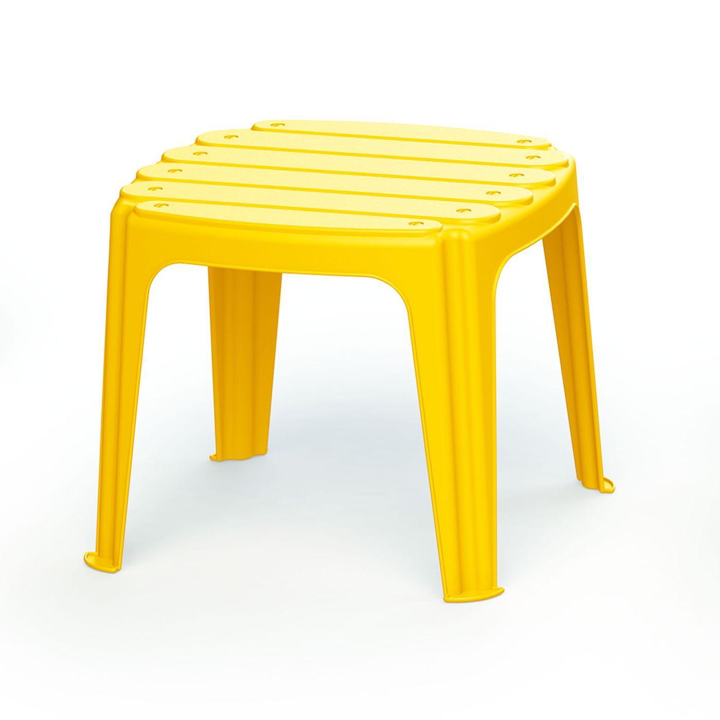 Детский стол Dolu, пластмассовый, 36,5 х 36,5 х 30,5 см, цвет: желтый. DL_3207