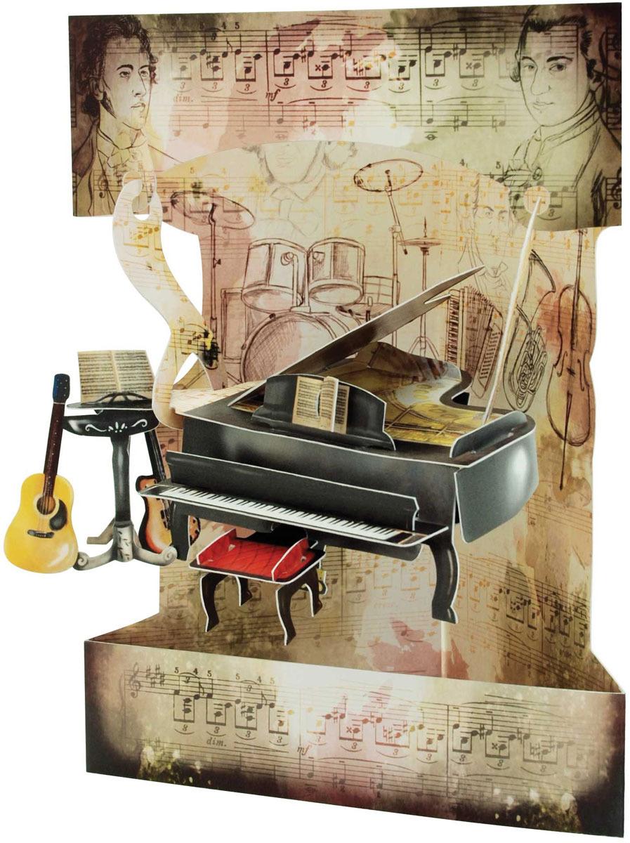 Объемная открытка Santoro Пианино и музыка музыка ангелов на пианино