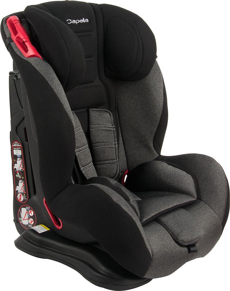 Автокресло Capella, 9-36 кг, цвет: черный меланж автокресло capella s2311 15 36 кг red красный меланж