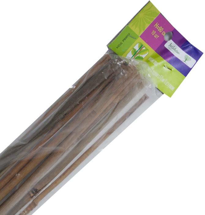 Палка бамбуковая Best Solution, диаметр 8-10 мм, длина 90 см, 10 шт опора для растений green apple бамбук цвет зеленый диаметр 1 1 см длина 90 см 5 шт