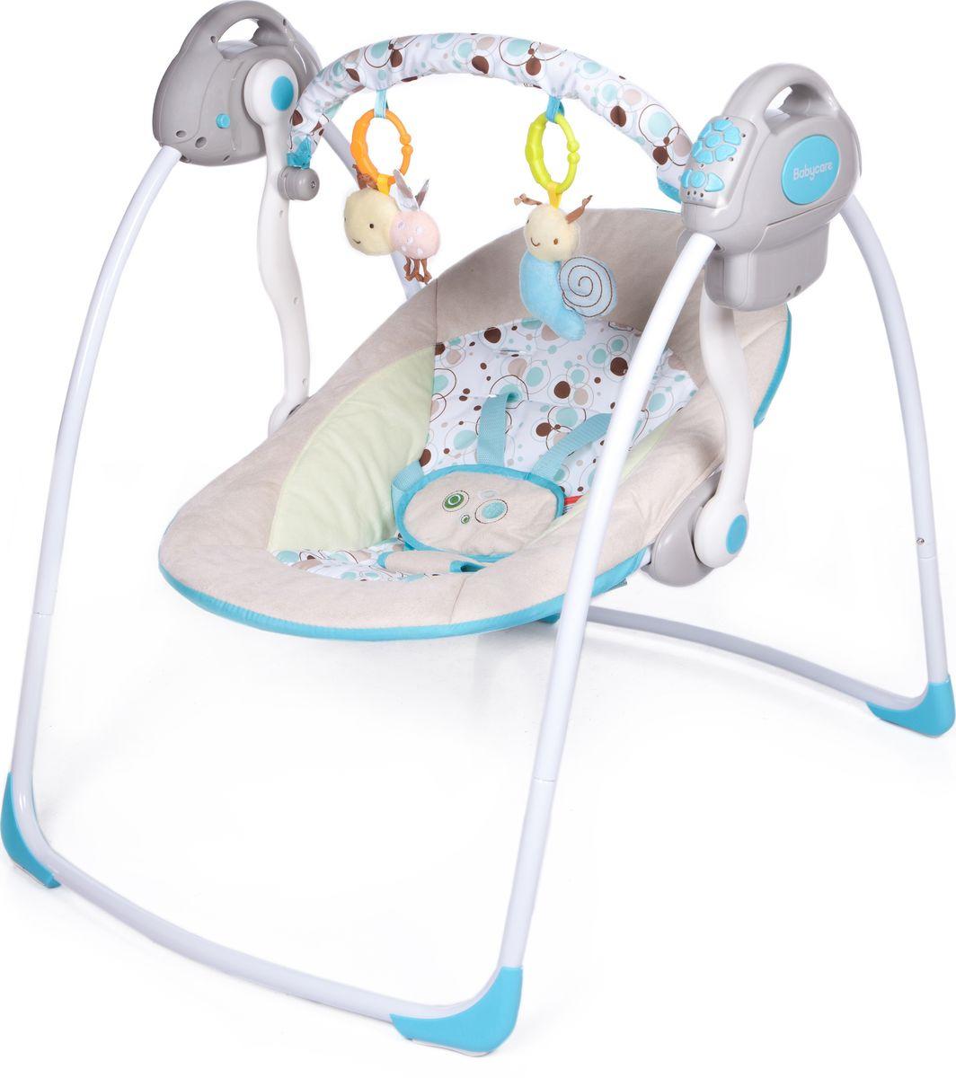 Электрокачели Baby Care Riva, с адаптером, цвет: шампанское