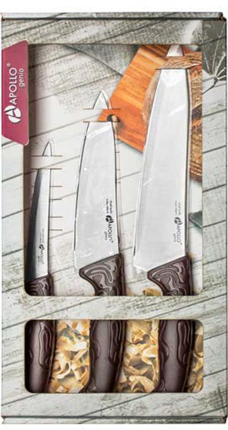 Набор кухонных ножей Apollo Genio King, 3 предмета