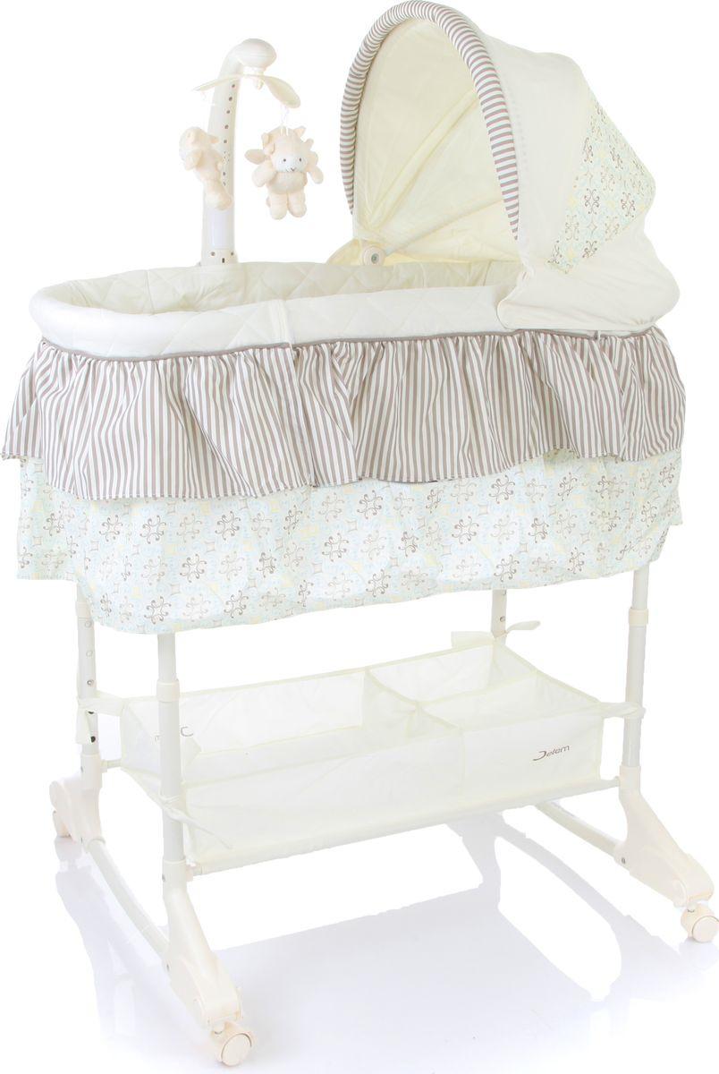 Кроватка-Люлька Jetem Sweet Dream цвет: серый, 3 в 1