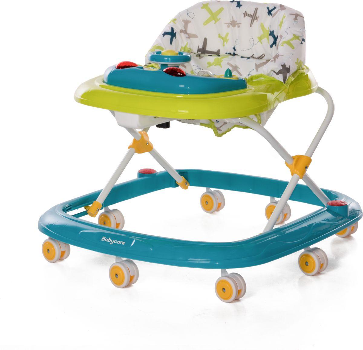 Ходунки Baby Care Flip, цвет: зеленый