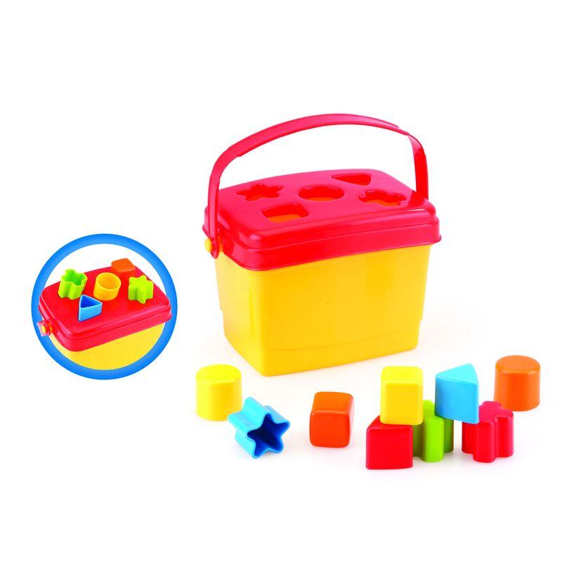 Контейнер-сортер Dolu, геометрические фигуры. DL_5098 игрушка сортер томик геометрические фигуры