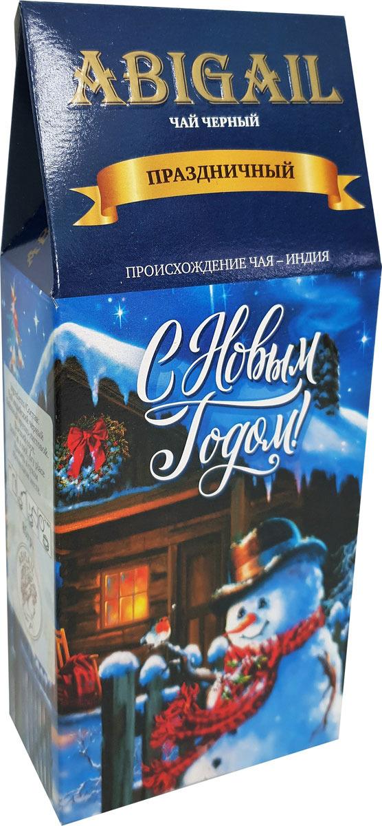 Чай листовой черный Abigail Праздничный домик. Снеговик, 85 г чай листовой черный abigail праздник к нам приходит 85 г
