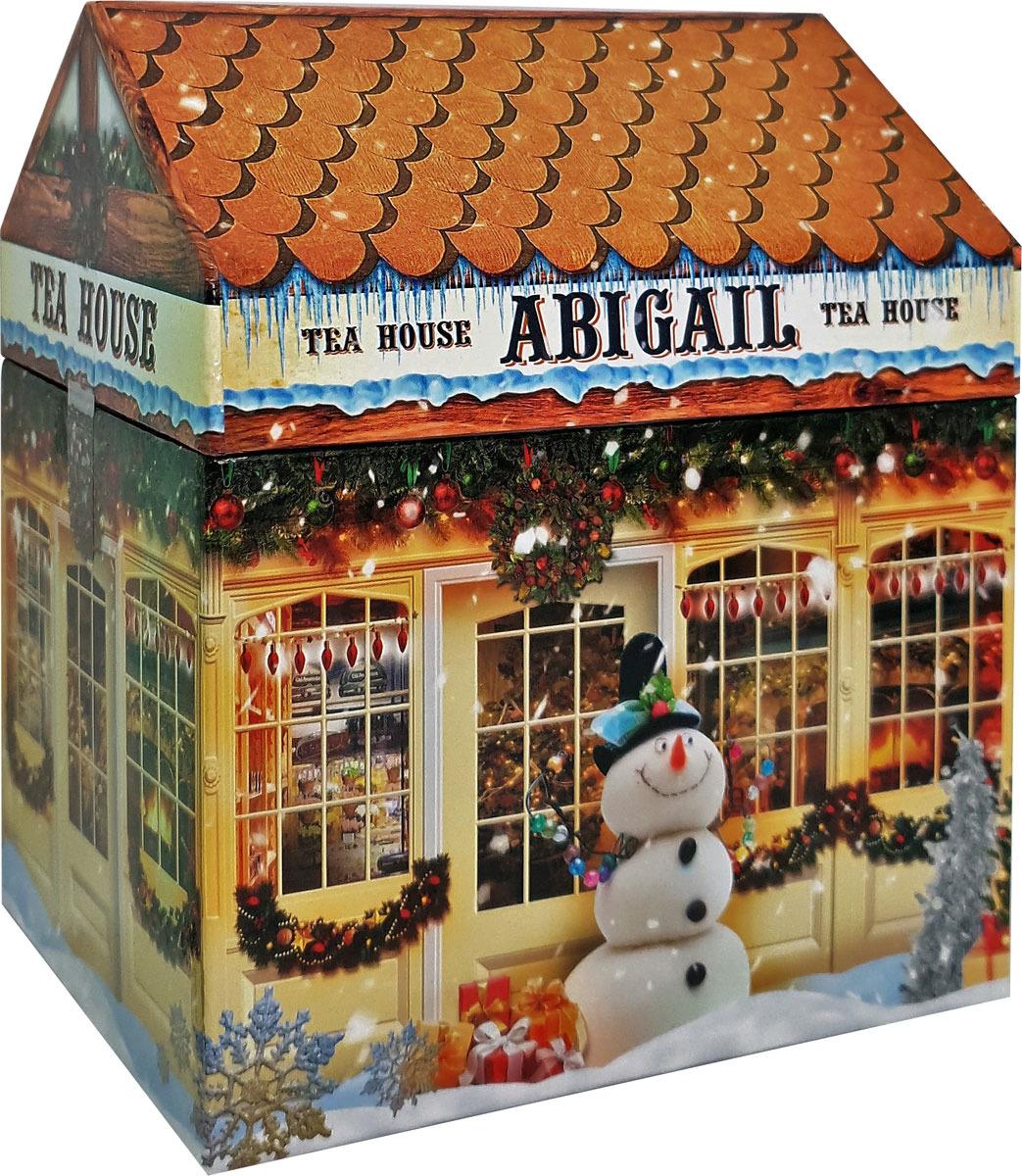 Чай листовой Abigail Чайный домик со снеговиком, жасминовая спираль, 50 г чай листовой abigail чайный домик со снеговиком жасминовая спираль 50 г