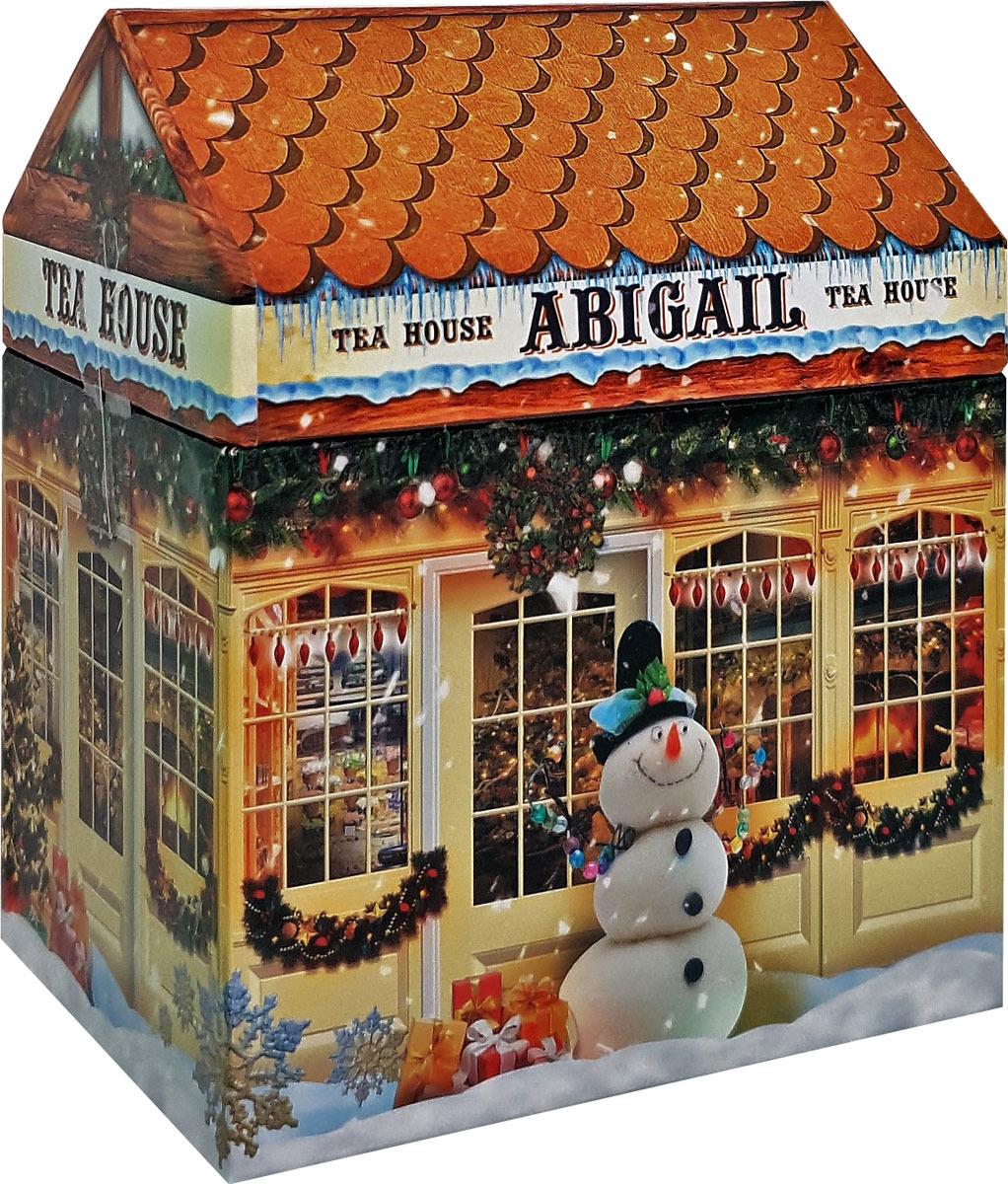 Чай листовой Abigail Чайный домик со снеговиком, сенча, 85 г чай листовой черный abigail праздник к нам приходит 85 г