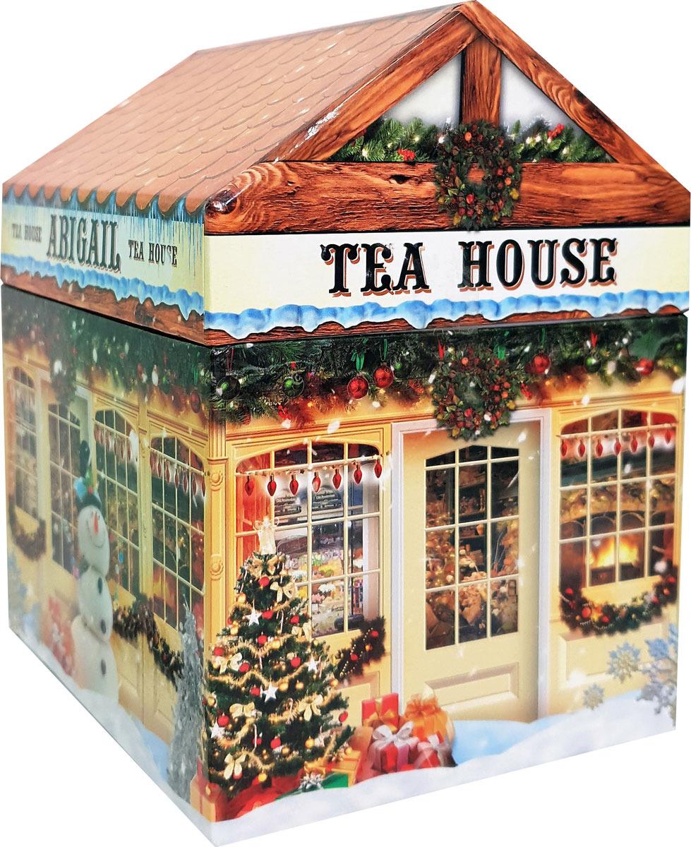 Чай листовой Abigail Чайный домик со снеговиком, сенча, 170 г чай листовой abigail чайный домик со снеговиком жасминовая спираль 50 г
