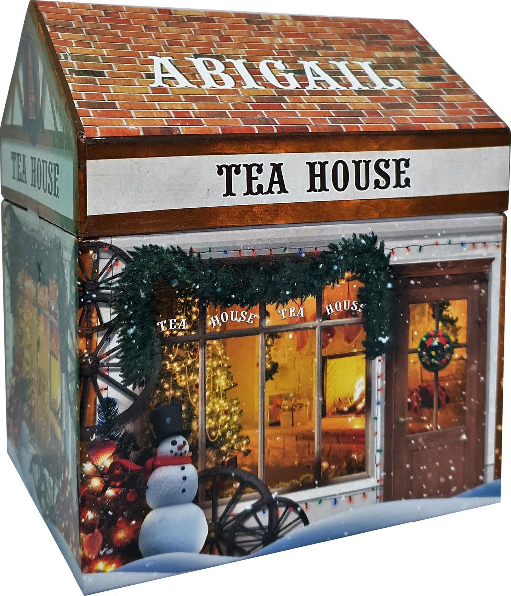 Чай листовой зеленый Abigail Чайный домик , с жасмином, 50 г чай листовой abigail чайный домик со снеговиком жасминовая спираль 50 г