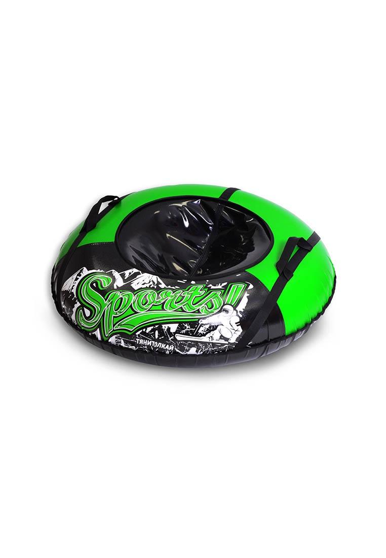 Тюбинг ТяниТолкай ТЕНТ SPORT, цвет:черный, зеленый, 100см цены