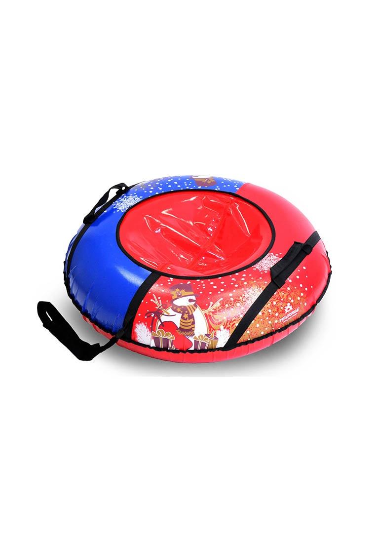 Тюбинг ТяниТолкай ТЕНТ, новый год, цвет:красный,синий, 93см цены