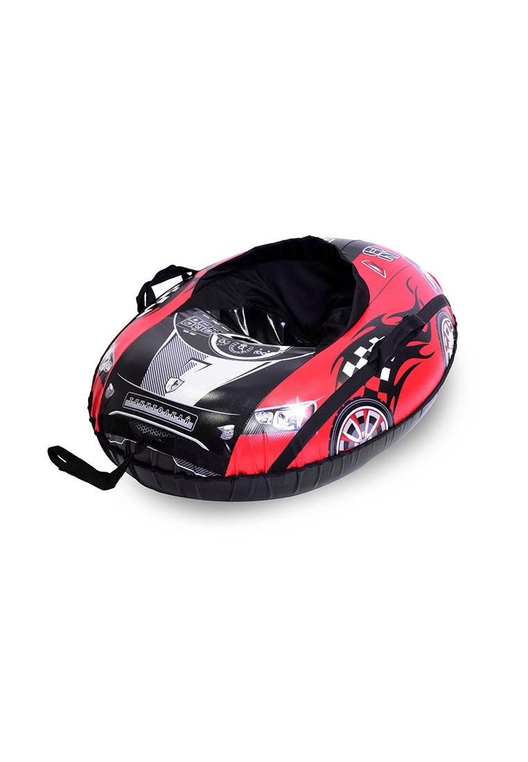 Тюбинг овальный ТяниТолкай COMFORT, машинка, цвет:красный, черный, 100см цены