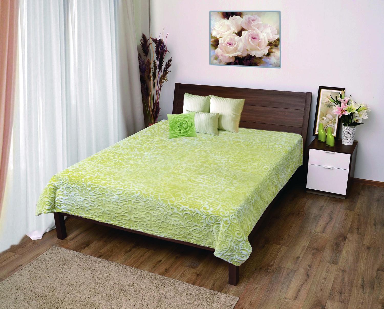 Плед Мягкий Сон Veroni ПФ-180-18 микрофибра-фланель стриженный, цвет: зеленый, 180х220 см, 100% полиэстер. 323-ПФ-180-18 цена