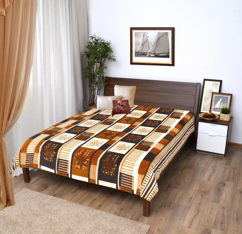 Плед Мягкий Veroni Сон ПФ-180-04 Плед микрофибра-фланель, цвет: коричневый, светло-коричневый, 180х220 см, 100% полиэстер. 323-ПФ-180-04 цена