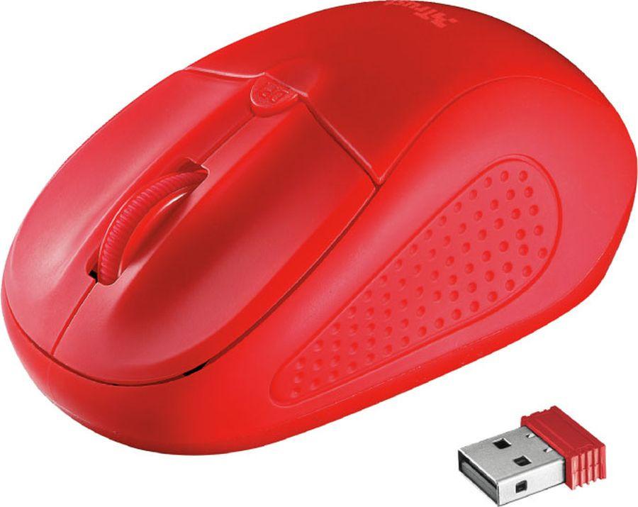лучшая цена Мышь Trust Primo Wireless, беспроводная, цвет: красный