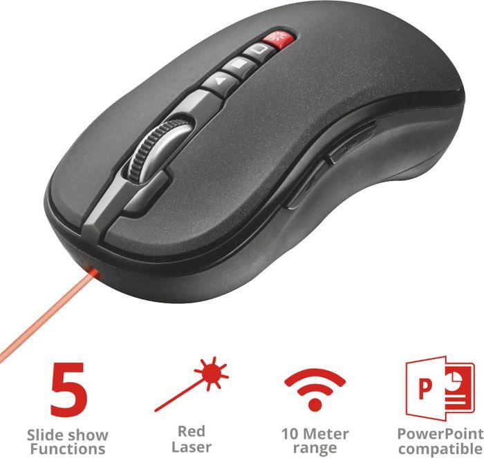 Презентор 21191 Trust PREMO мышь с лазерной указкой темы для презентации powerpoint скачать