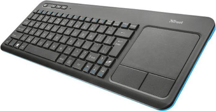 Клавиатура Trust Veza Wireless Touchpad, беспроводная, цвет: черный, серый настройка каналов tv
