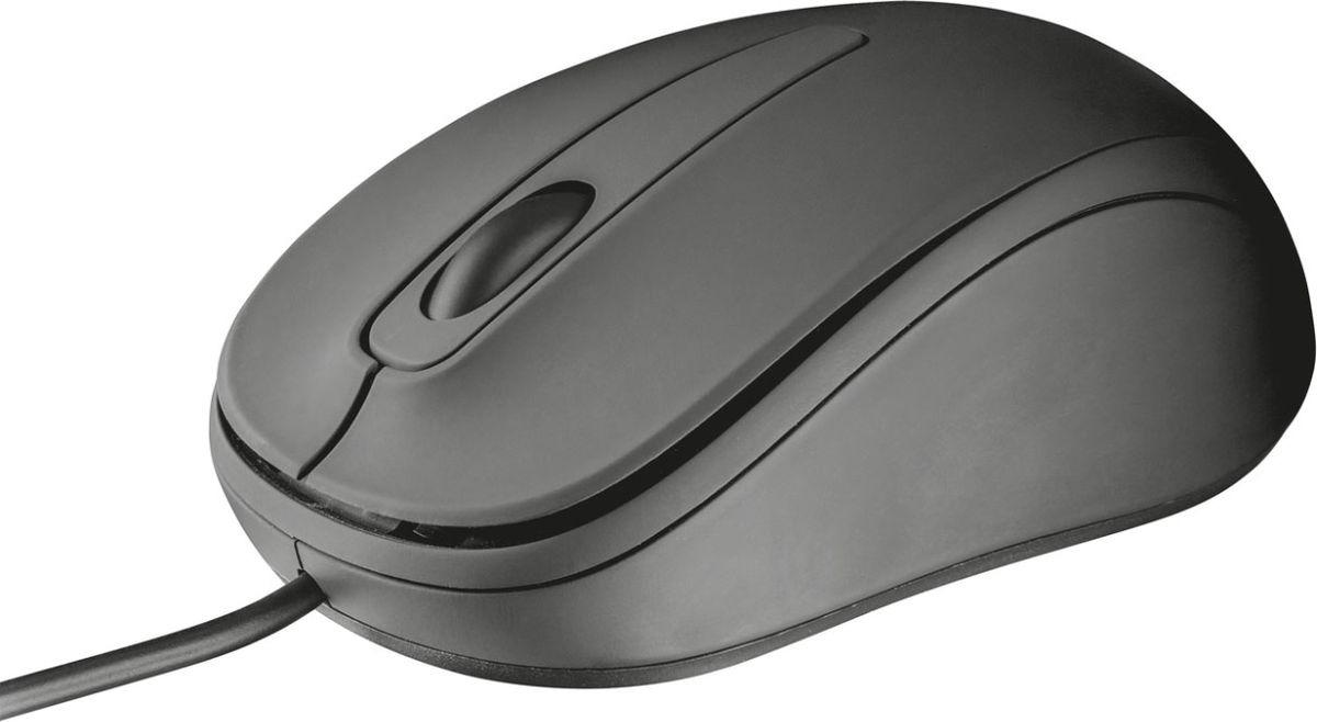Мышь Trust Ziva Compact, проводная, цвет: черный, серый цена и фото