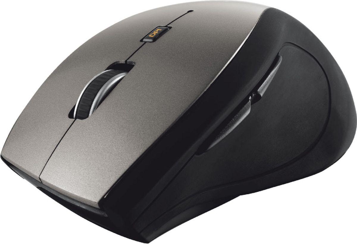 Мышь Trust Sura Wireless, беспроводная, цвет: черный, серебристый