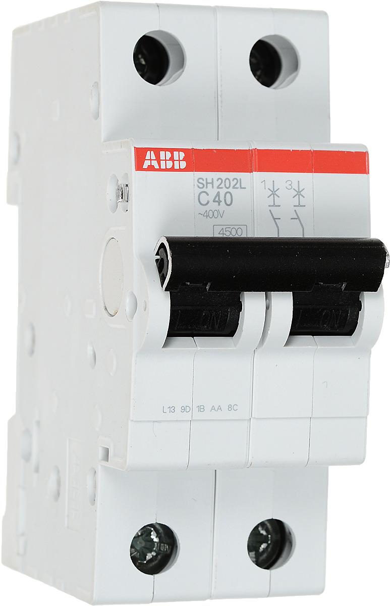 Выключатель автоматический ABB SH202L, 2P 40А (С) 4,5kA автоматический выключатель sh202l 2p 10а с 4 5ка