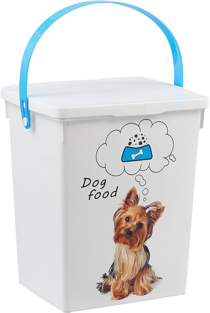 Контейнер для хранения корма Полимербыт Dog Food, цвет: белый, голубой, 5 л запчасть stels chao yang 26x1 95 2 125